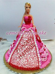 Barbie doll cakes