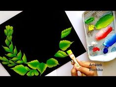One Stroke Painting Tutorial for Beginners Acrylic Painting Flowers, Acrylic Painting For Beginners, Easy Canvas Painting, Acrylic Painting Techniques, Step By Step Painting, Painting Videos, Acrylic Colors, Fabric Painting, Flower Paintings