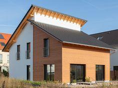 moderner bungalow mit pultdach haus ederer von baufritz fertighaus bauen hauseingang. Black Bedroom Furniture Sets. Home Design Ideas