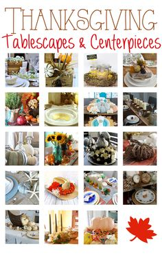 Thanksgiving Tablescapes and Centerpieces