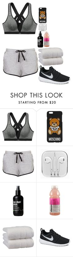 """Sin título #703"" by hpf1102 ❤ liked on Polyvore featuring Victoria's Secret, Moschino, Topshop, 1888 Mills and NIKE"