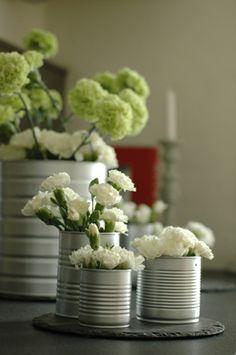 idée récup : mettre plantes et fleurs en valeur
