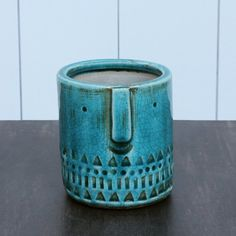 Smile Turquoise Plant Pot - View All Home Accessories - Treat Your Home - Home Accessories