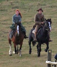 Poldark filming: Eleanor Tomlinson and Harry Richardson Poldark Season 4, Poldark 2015, Demelza Poldark, Ross Poldark, Ross And Demelza, Winston Graham, Aiden Turner, Eleanor Tomlinson, Tortured Soul