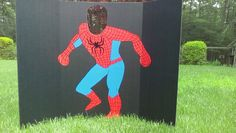 DIY Spiderman photo booth prop...Linden