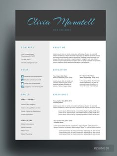 HAYRUN RESUME  Do you love the blue color? Then, this resume template will perfectly fit you. This is a well-organized, simple and clean resume design. We also included space for your social media accounts so that you and your employer will have another medium of communication after they hire you. YOU can do it!