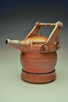 Soda Fired Ceramic Tea Pot by SirRammicks