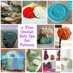 Bath Spa Roundup, 10 free crochet patterns curated by Cre8tion Crochet