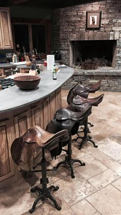 10 stylish spaces decorated with english and western saddles. Looking to make a western or equestrian statement in your home? Add a saddle or two to an unexpect