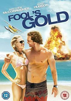 """""""Fool's Gold"""" 2008 movie starring Kate Hudson and Matthew McConaughey. Directed by Andy Tennant. Good Comedy Movies, Great Movies, Movies To Watch, Movies Free, Funny Movies, Donald Sutherland, Kevin Hart, Kate Hudson, We Movie"""