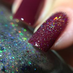 Nvr Enuff Polish: Berry / Sparkly! Winter LE duo