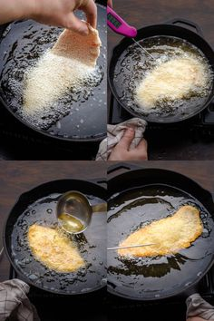 To get a dry Wiener schnitzel fry it in at least 1 inch of oil at 350°F (175°C) and don't stop shaking that skillet in a circular motion (or if you are scared to use a ladle to pour hot oil over the top).