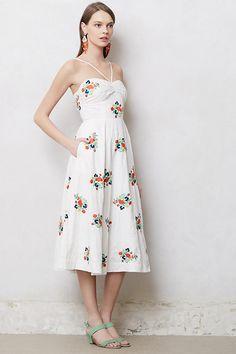 Floristitched Midi Dress | Anthropologie