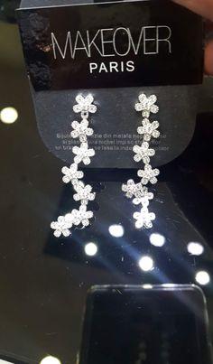 Long flowery earrings. Makeover Paris, produse, cosmetice, bijuterii. #jewelry #jewels #fashion #gems #accessories #beautiful #stylish Gems, Display, Paris, Jewels, Stylish, Earrings, Accessories, Beautiful, Fashion