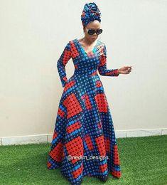 African Print Dresses Nedim Osmanovic designs by laviye Long African Dresses, Latest African Fashion Dresses, African Print Dresses, African Print Fashion, Africa Fashion, African Prints, Ankara Fashion, African Fabric, Tribal Fashion
