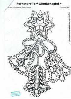 Merry Christmas Gif, Christmas Bells, Christmas Themes, Crochet Angels, Irish Crochet, Bobbin Lace Patterns, Embroidery Patterns, Bruges Lace, Bobbin Lacemaking