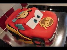 Lightening mcqueen cake tutorial
