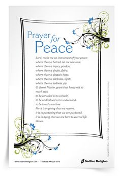 Download a Prayer for Peace and use it to celebrate the World Day of Peace in your home or parish
