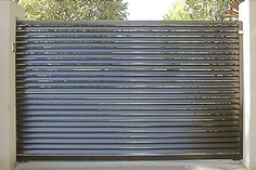 Privacy Slats In Ornamental Iron Fence Fence Pinterest