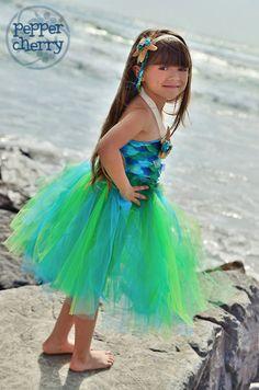 Mermaid Tutu Dress reserved for Yuko van MyaPapayaBoutique op Etsy