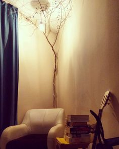 Ağaçlı aydınlatma #home #decor #nature #tree #light #reading #spot