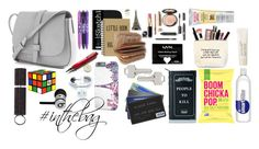 """""""What's Inside the Bag?"""" by a-gauche ❤ liked on Polyvore featuring Laura Mercier, Charlotte Russe, Vera Bradley, Killstar, Beats by Dr. Dre, Lauren Klassen and Gap"""