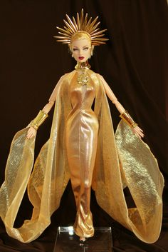 https://flic.kr/p/9Q3LVD | Morning  Sun  Princess | In  Full  Regalia  Eugenia  Perrin  Frost  is  wearing  a  fantasy  gown  from  the  Morning  Sun  Princess  2000  barbie.  It's  part  of  the  Celestial  Goddess  Collection  and  Mystical  Princess  of  the  Sky.