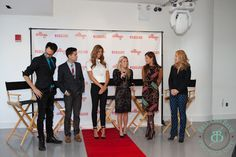 With Kelly Bensimon who is very, very tall.