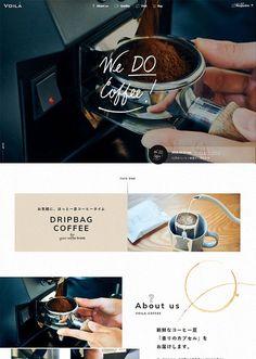 VOILA COFFEE|ヴォアラ珈琲 Website Design Layout, Web Layout, Layout Design, Café Design, Food Design, Restaurant Website Design, Template Web, Food Poster Design, Blog Design Inspiration