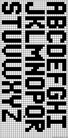 good font – perfect height for bracelets Cross Stitch Letters, Cross Stitch Font… – knitting charts Cross Stitch Alphabet Patterns, Cross Stitch Letters, Letter Patterns, Alpha Patterns, Bead Loom Patterns, Beading Patterns, Cross Stitch Font, Stitch Patterns, Basic Embroidery Stitches