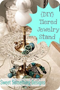 Tiered Jewelry Stand {DIY} tutorial