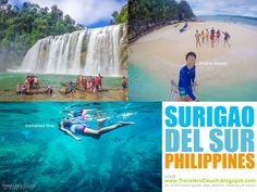 PHOTO: Surigao del Sur Attractions - Tinuy-an Falls in Bislig, Britania Islands in San Agustin and Enchanted River in Hinatuan. This...