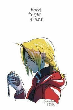 Don't forget, text, October 3rd 2011, sad, Edward Elric, pocketwatch; Fullmetal Alchemist