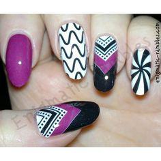 Black Peppermint Nail Strips