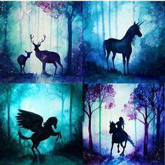 Take time to admire the elegant beauty of this artwork Galaxy Painting, Galaxy Art, Unicorn Painting, Painting Inspiration, Art Inspo, Silhouette Painting, Spray Paint Art, Arte Disney, Pastel Art