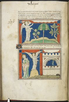 Heaven and Earth, and the new Jerusalem, Royal MS 19 B XV, f. 40v