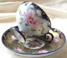 19th Century #Antique #Japanese Porcelain #Tea #Cup & #Saucer