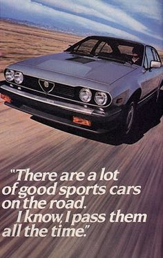 Alfa Romeo GTV6 - good 80s advertising!