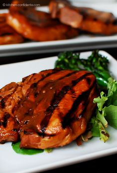 Pineapple-Rum Glazed Pork Chops