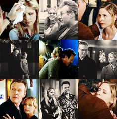 Buffy: Does it ever get easy? Giles: You mean life? Buffy:Yeah. Does it get easy? Giles:What do you want me to say? Buffy:Lie to me. Giles:Yes, it's terribly simple. The good guys are always stalwart and true, the bad guys are easily distinguished by their pointy horns or black hats, and we always defeat them and save the day. No one ever dies and everybody lives happily ever after.Buffy:Liar.