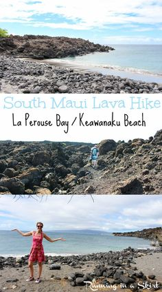South Maui Lave Hike -- La Perouse Bay to Keawanaku Beach.  Gorgeous views, amazing beach and snorkeling! Best Maui Hikes | Running in a Skirt