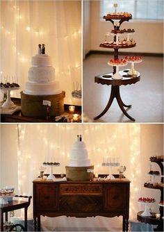 Vintage dessert table setup