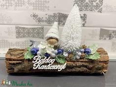 Mohó manó karácsonyi asztaldísz - dekoráció (AKezmuvescsodak) - Meska.hu Hanukkah, Wreaths, Table Decorations, Diy, Home Decor, Xmas, Decoration Home, Door Wreaths, Bricolage