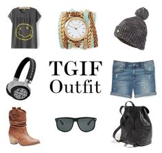 TGIF Outfit by lifestylecocktail on Polyvore featuring Rebecca Minkoff, Wet Seal, Madewell, Sara Designs, Ray-Ban and Superdry
