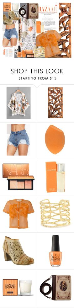 """Meet Romeo on sunset beach"" by winter-stark ❤ liked on Polyvore featuring NOVICA, NARS Cosmetics, Clinique, Comme des Garçons, Kendra Scott, L'Artiste by Spring Step, OPI, Henri Bendel, DENIMCUTOFFS and eyelet"