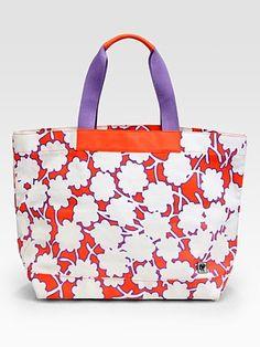 This beach bag makes me happy :-) Diane von Furstenberg - Large Canvas Beach Tote Bag - Saks.com #SaksLLTrip