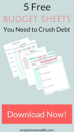 if you are looking to organize your finances grab these free printable budget sheets