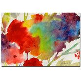 Found it at Wayfair - 'Rainbow Flowers' by Sheila Golden Painting Print on Canvas