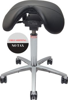 The Backless Saddle Seat is a uniquely ergonomic heavyduty stool
