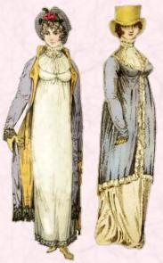 Regency Pelisse Coats - Early Forms of Pelisse Coat 1804 and 1806